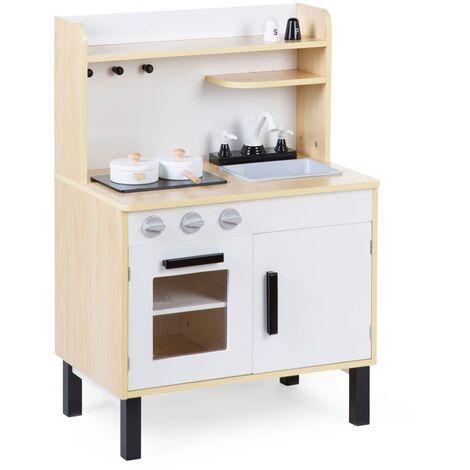 CHILDHOME Cocina de juguete de madera blanco natural