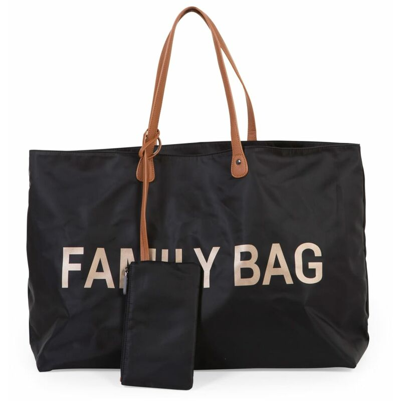 Image of Diaper Bag Family Bag Black - Black - Childhome