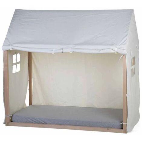 CHILDHOME Dosel para cama en forma de casa blanco 150x80x140 cm