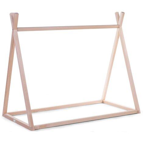 CHILDHOME Estructura de cama en forma de tipi madera natural 70x140 cm - Beige