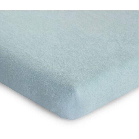 CHILDHOME Fodera Materasso Box Bambini 75x95 cm Blu Menta Pastello