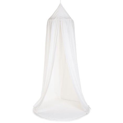 CHILDHOME Hanging Canopy Tent with Playmat Off-white - White
