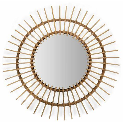 CHILDHOME Mirror Aura 90cm Rattan - Beige