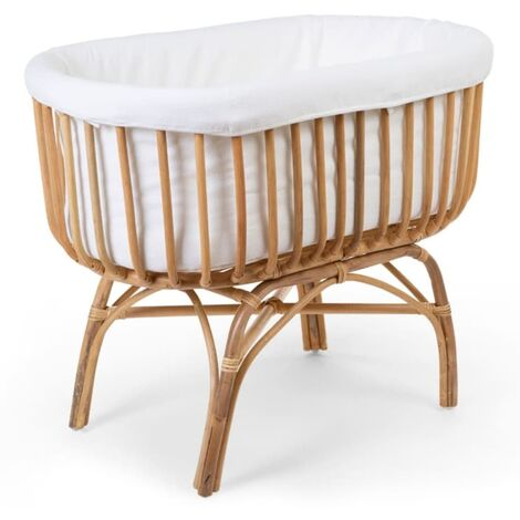 CHILDHOME Rattan Cradle Cover 95x65x33 cm Off White
