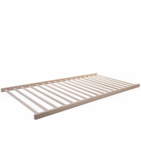 """main image of """"CHILDHOME Slatted Bed Base 140x70 cm Natural B140TIPIMF - Brown"""""""