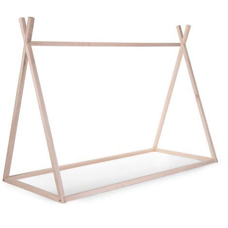 CHILDHOME Tip Bed Frame 90x200cm Wood Natural - Beige