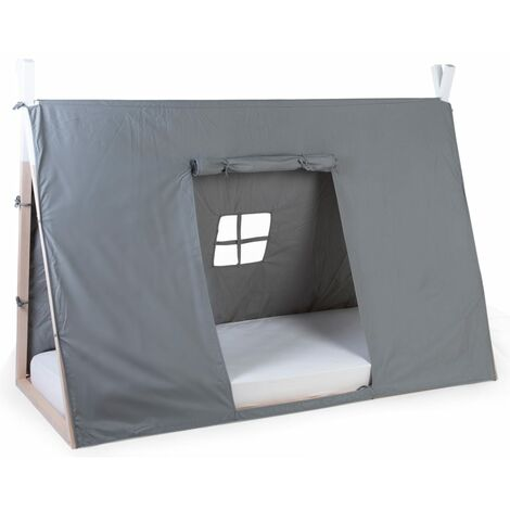 CHILDHOME Tipi Bed Cover 90x200 cm Grey