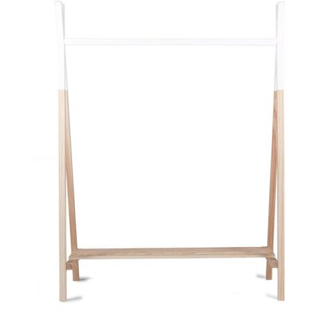 CHILDHOME Tipi Clothes Rack Beech Natural and White CLSTIPI - Multicolour