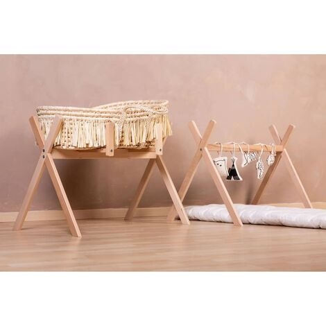 CHILDHOME Tipi Moses Basket Stand Play & Gym Natural