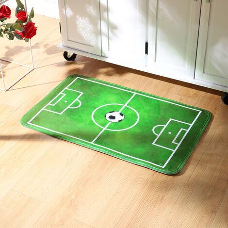Children Football Pitch Court Rugs Fluffy Soft Bedroom Carpet Floor Mats, 50x80CM