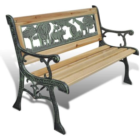 Children Garden Bench 84 cm Wood - Brown