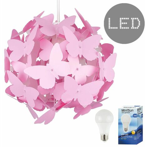 Childrens Bedroom Butterfly Ceiling Pendant Light Shade Kids Lampshade