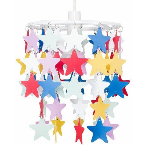 Children'S Bedroom / Multi Coloured Stars Ceiling Pendant Light Shade