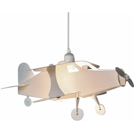 Children's Bedroom White Aeroplane Ceiling Lamp Pendant Light Shade