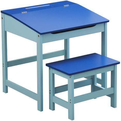 Children's Desk and Stool,MDF,Blue