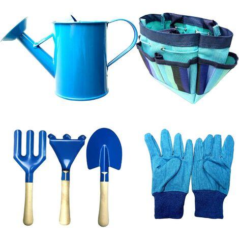 Children's Gardening Tools, Child Garden Toy With Watering Room, Gloves, Rake, Shovel, Garden Tools Children's Kit Gift for Preschool Baby Gift