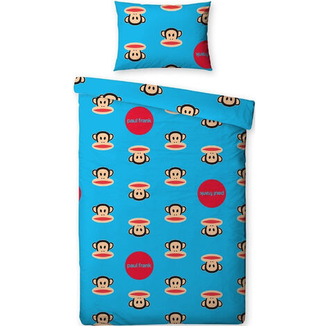 Childrens/Kids Paul Frank Spots Single Duvet Cover Bedding Set (Double Bed) (Blue)
