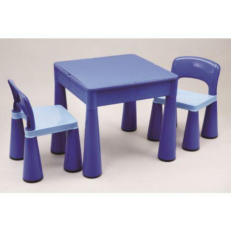 Children's Multi - Purpose Table & Chairs Set - Blue