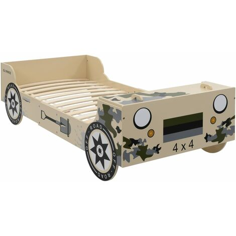 Children's Off-road Bed 90x200cm Camouflage