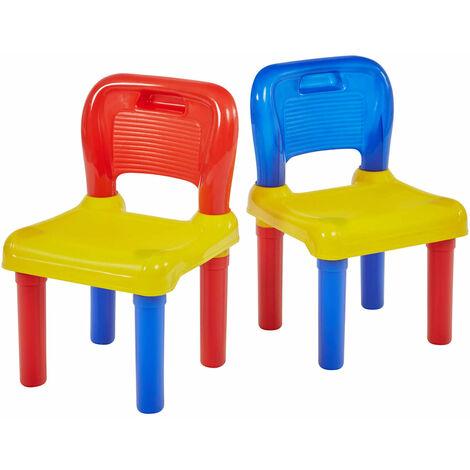 "main image of ""Children's Plastic Chairs - 2pc - Multicolour"""