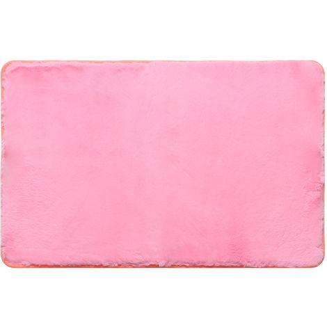 Children's Room Bedroom Rug Comfortable Carpet shaggy Velvet Yoga Anti-skid 50x80cm Pink Hasaki