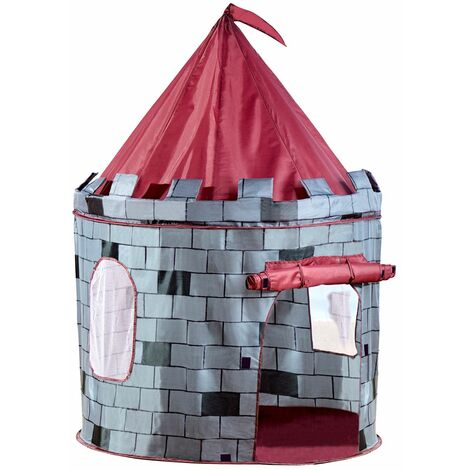 Children's Boys Grey Knight Castle Play Tent Indoor Outdoor Garden Playhouse