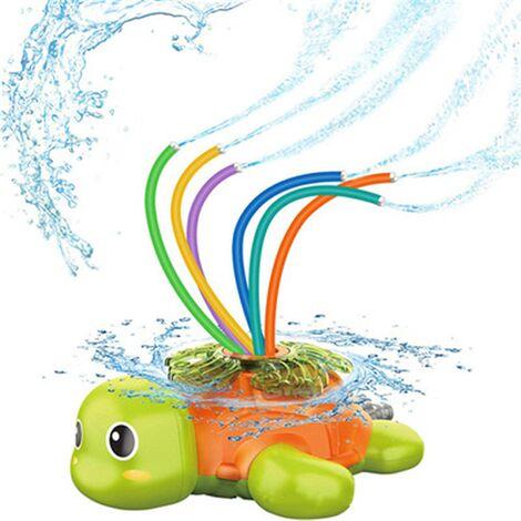 Children's sprinkler, child toy sprinkler, Water Sprinkler Toy, Children's sprinkler toys, pool whale toy, garden, lawn, outdoor play (turtle)