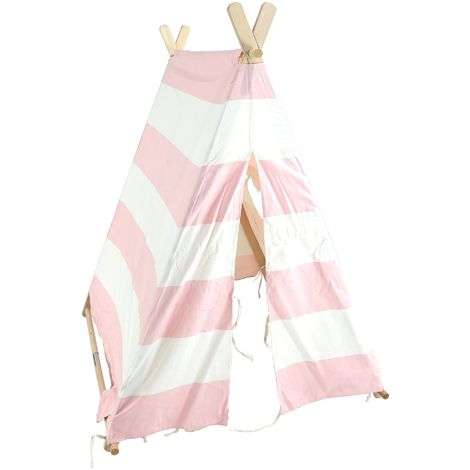 Children's tent, play tent, indoor tent for children, pink and white
