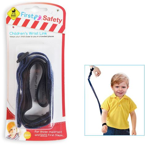 Childs Wrist Link Strap Safety Lead for Kids Baby//Toddler  Choice of 5 Colours