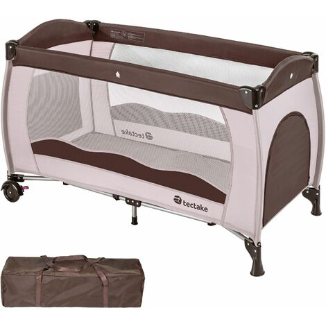 Travel cot for children - cot bed, baby travel cot, pop up travel cot - coffee