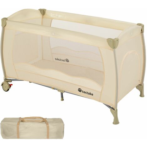 Travel cot for children - cot bed, baby travel cot, pop up travel cot - beige