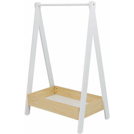 Children's Wooden Dressing Rail - White and Pine