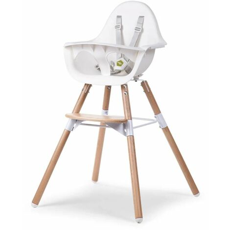 CHILDWOOD Trona para bebé 2-in-1 Evolu 2 blanco CHEVOCHNW