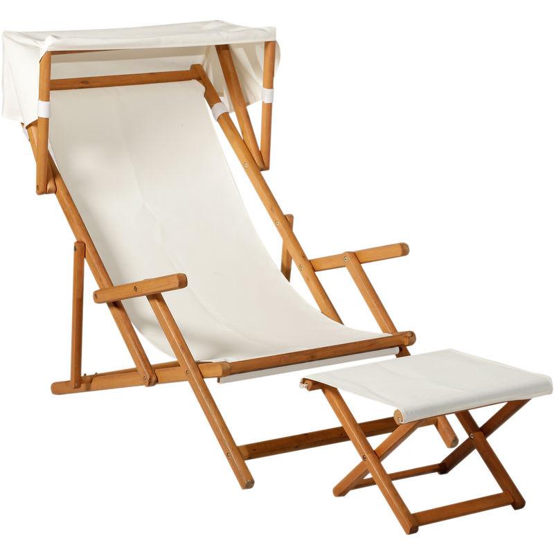 Chilienne chaise longue de jardin pliable inclinable grand