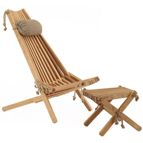 Chilienne scandinave avec repose-pieds Aulne