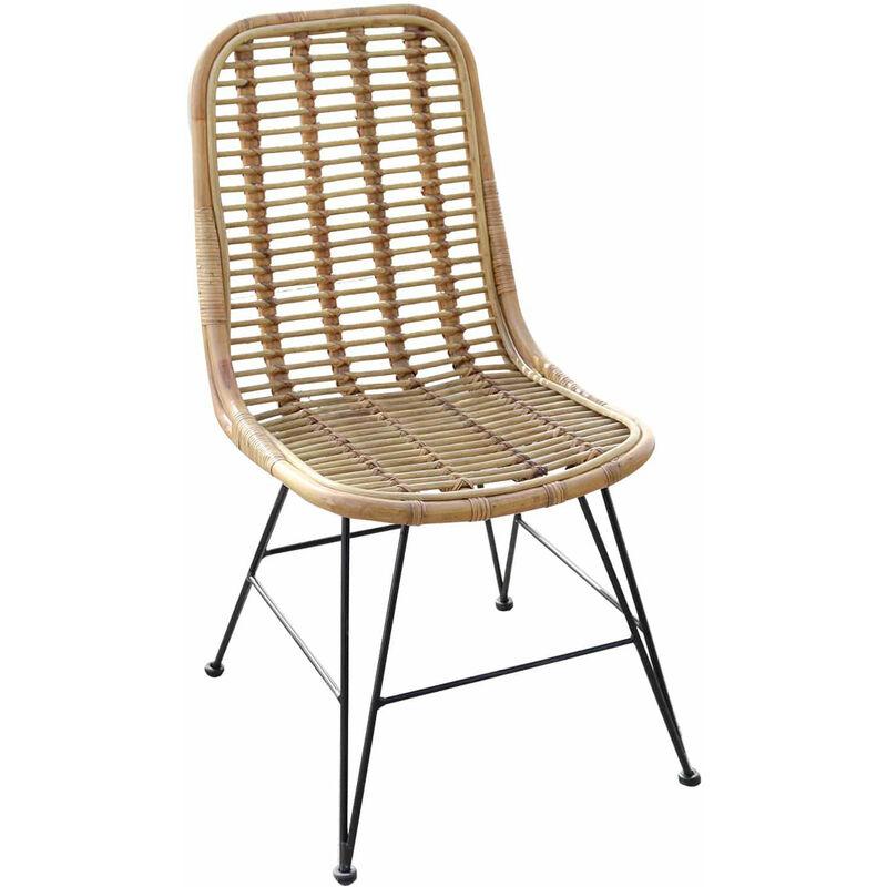 Chillvert Sessel Aus Natürliches Rattan Esszimmer Parma 46 cm x 60 cm x 92 cm