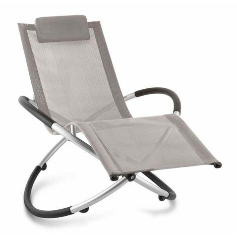 Chilly Billy Chaise longue jardin transat aluminium -taupe