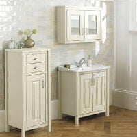 CHILTERN Ivory 600mm Traditional 3 Piece Freestanding Vanity Unit Furniture Suite