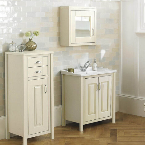 CHILTERN Ivory 600mm Traditional Freestanding Vanity Unit Furniture Suite