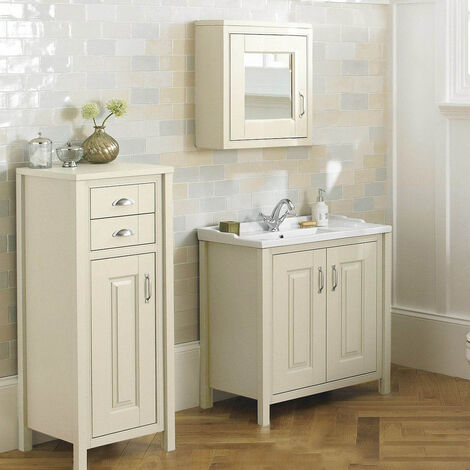 CHILTERN Ivory 800mm Traditional Freestanding Vanity Unit Furniture Suite