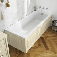 Chiltern Ivory Bath Panel 1700 X 480 MM & Ivory Bath Panel 480 X 700 MM