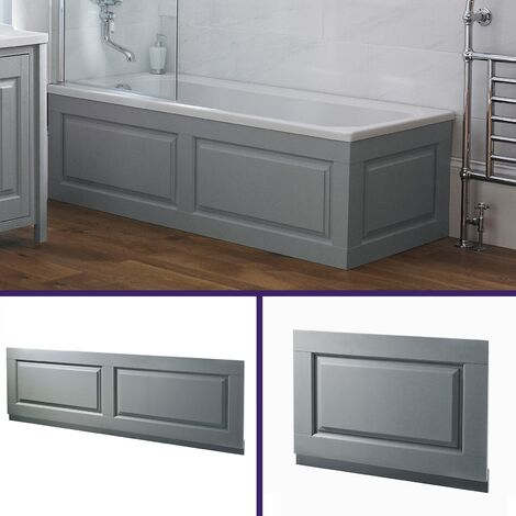 Chiltern Light Grey Traditional 1800 x 480mm Bath Front & End Panel + Plinth