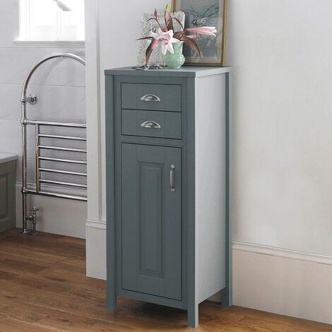 Chiltern Traditional Grey Tall Bathroom Cabinet