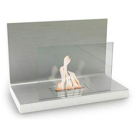 Chimenea Contemporánea de Etanol de Pared VPF-OXY-452W-Blanco Brillante Blanco brillante