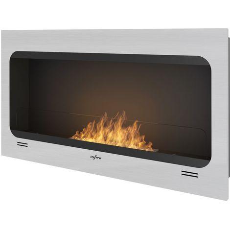 Chimenea de bioetanol incorporada cm 100x55x16 Sined Fire INSPIRE INOX