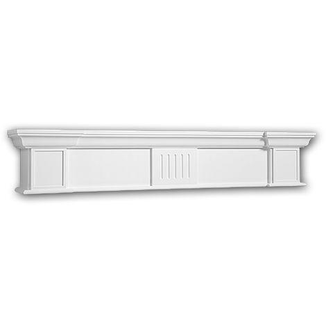 "main image of ""Chimenea decorativa 164004 Profhome Elemento decorativo diseño atemporal clásico blanco"""