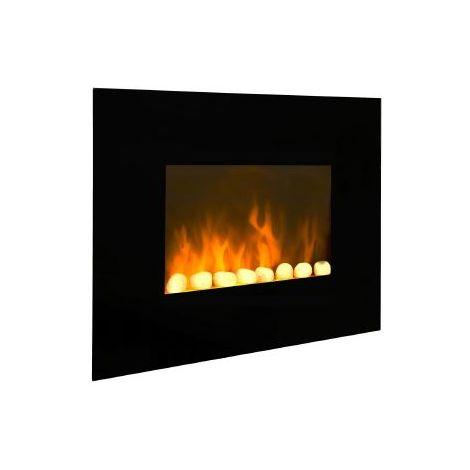 Chimenea eléctrica con calefactor y efecto llama de 62 cm.