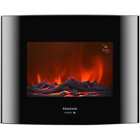 Chimenea eléctrica negra 2000w - toronto p - taurus alpatec -