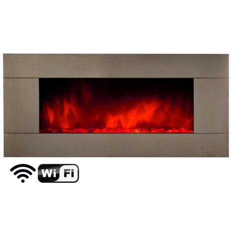 Chimenea electrica para pared wifi cm 120x11x56 Chemin Arte efydis 158