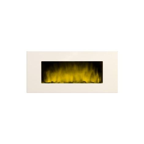 """Chimenea eléctrica XXL""""DE 122 cm. de ancho"""" con efecto fuego acabado blanco"""